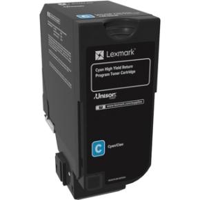 Lexmark 74C2HC0, Lasertoner, Blå, 12.000s