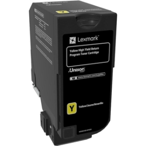 Lexmark 74C2HY0, Lasertoner, Gul, 12.000s