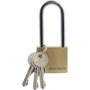 Nor-Lock hængelås m/lang bøjle, 40 mm