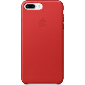 Apple iPhone 7 Plus bagcover i læder, rød