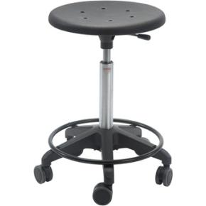 Sigma Stol, fodkryds m/ hjul & fodring, sort
