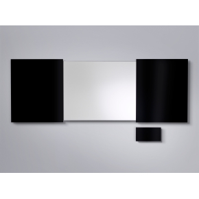 Lintex Mood konference whiteboard, mørkegrå låger