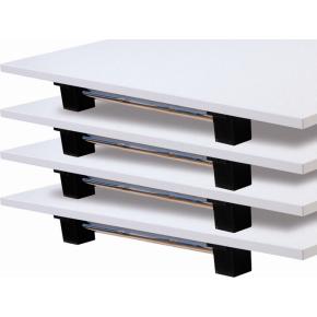 Klapbord 120x80 Hvid decor laminat/Krom