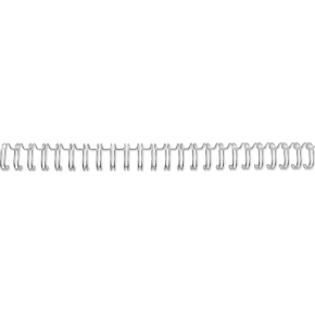 GBC indbindgswire A4, 34 rings 9,5mm, sølv, 100stk