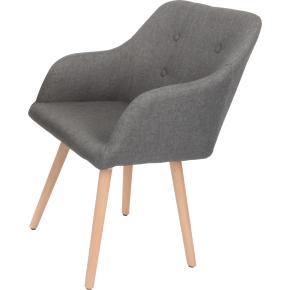 Fano loungestol grå med stel i bøg