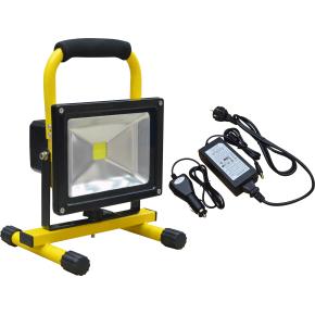 Arbejdslampe LED m/håndtag, 20w, genopladelig