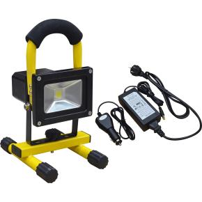 Arbejdslampe LED m/håndtag, 10w, genopladelig