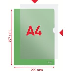 Esselte Copysafe omslag A4, 0,11mm, 100stk, grøn