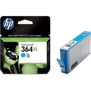 HP nr.364XL/CB323EE blækpatron, blå, 750s