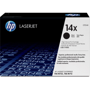 HP 14X/CF214X Lasertoner sort 17.500 sider
