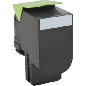 Lexmark 80C2SKE lasertoner, sort, 2500s