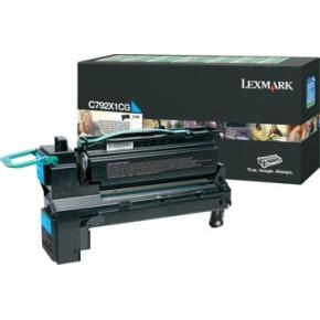 Lexmark X792X1CG HC lasertoner, blå, 20000s