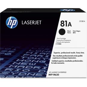 HP nr. 81A/CF281A Lasertoner, sort, 10500s.