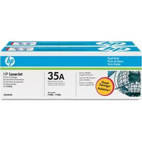 HP nr.35A/CB435AD lasertoner, sort, 1500s, 2pk