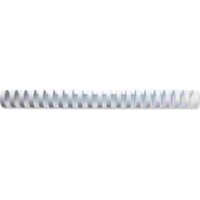 GBC Plast Spiralryg A4, 21 ringe, 19mm, hvid