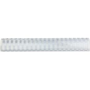 GBC Plast Spiralryg A4, 21 ringe, 45mm Oval, hvid