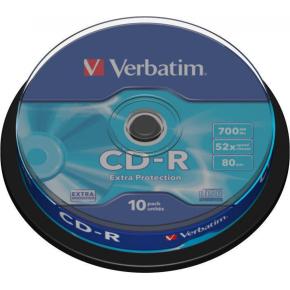 Verbatim CD-R 700MB/80min 52x spindel, 10 stk.