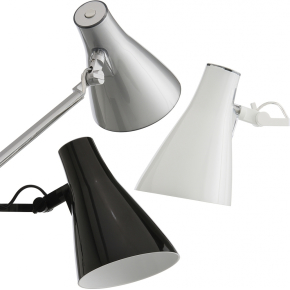 Solus 1 lampe sølvfarvet inkl. bordfod