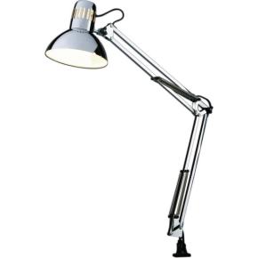 New York Arkitektlampe, inkl. skruetvinge, Krom