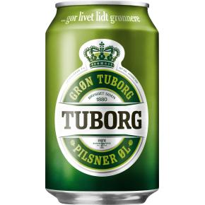 Grøn Tuborg 33 cl inkl. pant