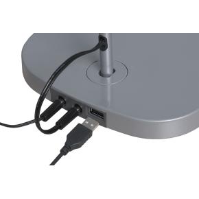 Luxo Trace bordlampe med USB oplader - Sort