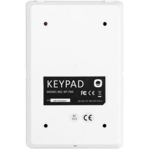Trådløst tastatur med nøglebriklæser til alarm