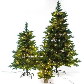 Juletræ LUX inkl. LED lys - 60 cm, Grøn