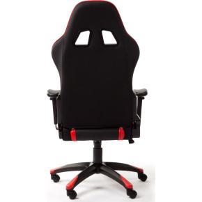 Racer kontorstol sort/rød PU