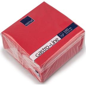 Papirserviet 33 x 33cm, 2-lag, 100stk, rød