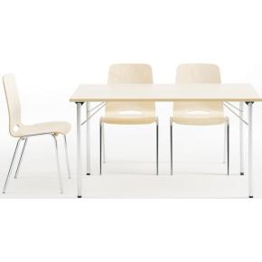 Ultima bord med klapstel 60X120 cm, bøg melamin