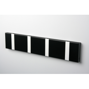 KNAX 4 knagerække, vandret, sort/grå