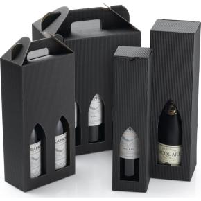 Gaveæske til vin, 1 flaske, sort