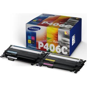 Samsung CLT-P406C Lasertoner, sampak med 4 stk.