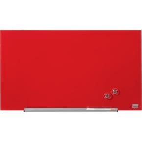 Nobo Diamond glastavle i rød - 38,1 x 67,7 cm