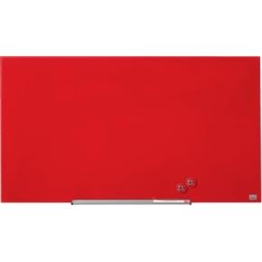 Nobo Diamond glastavle i rød - 55,9 x 99,3 cm