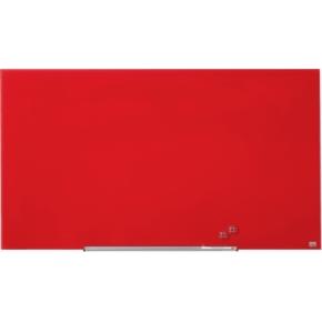 Nobo Diamond glastavle i rød - 71,1 x 126 cm