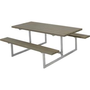 Plus Basic bord-bænkesæt, Gråbrun