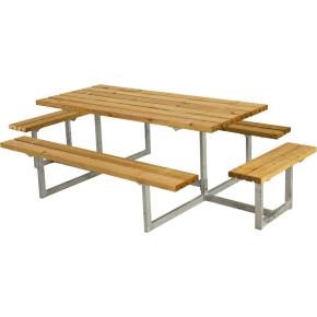 Plus Basic bord-bænkesæt m. påbygning, Lærk