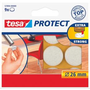 Tesa Protect filtpude rund Ø26 mm, Hvid