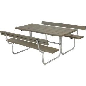 Plus Classic bord-bænkesæt m. ryglæn, Gråbrun