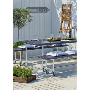 Plus Urban Picnic Plankesæt L. 207 cm, Sort