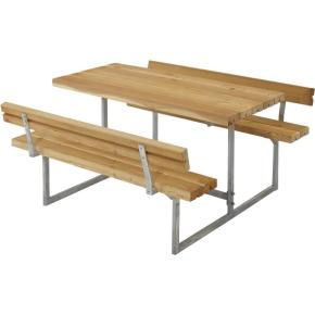 Plus Basic bord-bænkesæt til børn m. ryglæn, Lærk