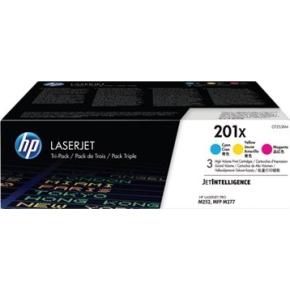 HP 201X/CF253XM lasertoner CMY, 2300s, 3-pak