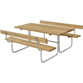 Plus Classic bord-bænkesæt m. ryglæn, Lærk