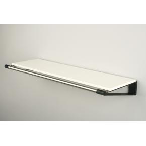 KNAX Hattehylde, 60 cm, hvid/sort