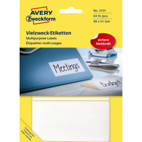 Avery 3331 manuelle etiketter, 98 x 51mm, 84stk