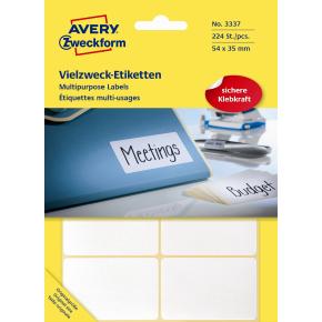 Avery 3337 manuelle etiketter, 54 x 35mm, 224stk