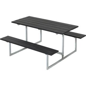 Plus Basic bord-bænkesæt til børn, Sort