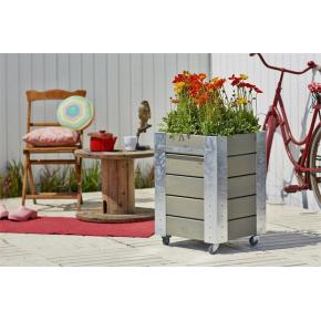 Plus Cubic Blomsterkasse 46x50x70 cm, Gråbrun