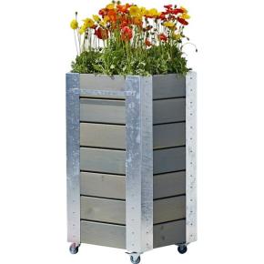 Plus Cubic Blomsterkasse 46x50x95 cm, Gråbrun